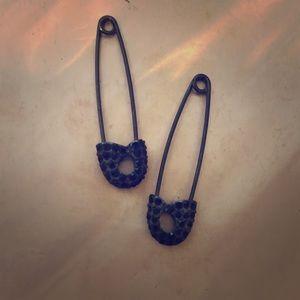 Rachel Roy safety pin drop earrings
